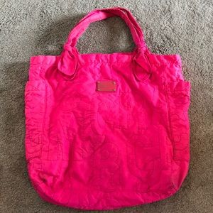 Marc by Marc Jacobs Hot Pink Quilted Nylon Tote